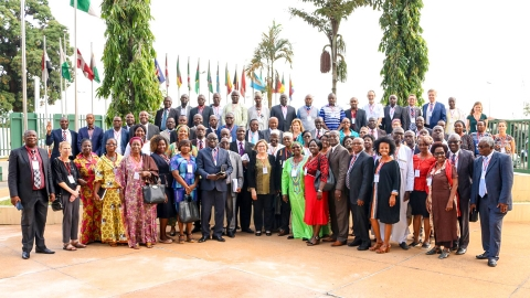 Group photo taken during the opening ceremony of the Global Book Alliance (GBA) in Abidjan, Côte d'Ivoire   Copyright: ADEA