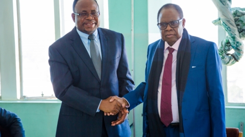 Makha Ndao ADEA TFEMPS and Prof. Mavima, Minister of Primary and Secondary Education of Zimbabwe